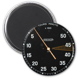 Classic car rev counter, vintage tachometer gauge 2 inch round magnet