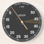 "Classic car rev counter, vintage tachometer gauge coaster<br><div class=""desc"">This item is inspired by the rev counter gauge of a very old racing car. It has a black face and white lettering, with the red line in yellow. The technical term for this instrument is &quot;tach&quot; or &quot;tachometer&quot;. Most of these instruments and gauges were hand made - artworks in...</div>"