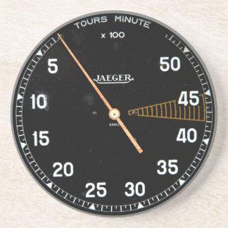 Classic car rev counter, vintage tachometer gauge coaster