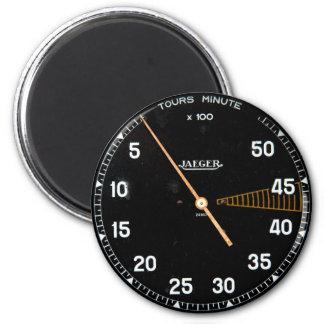 Classic car rev counter, vintage tachometer refrigerator magnet