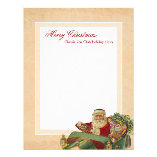 Classic Car Santa Christmas Newsletter Stationery