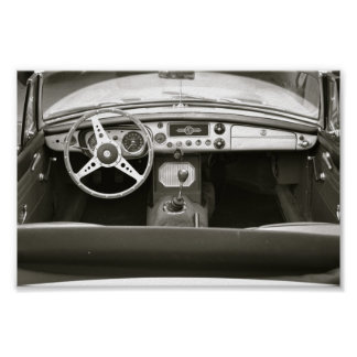 Classic Car Seat with a View Poster