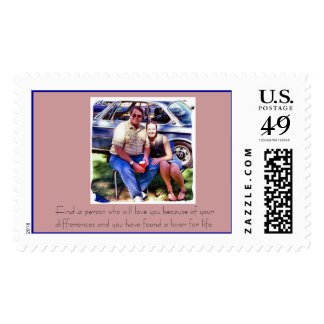 Classic Car Show Postage Stamp