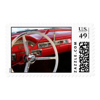 Classic Car Steering Wheel Stamp