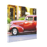 Classic car stretched canvas print