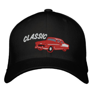 Classic Car Vintage 50s Style Embroidered Hat