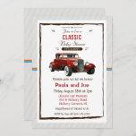 Classic Car Vintage Baby Shower Invitation