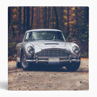 Classic car vintage retro,silver binder