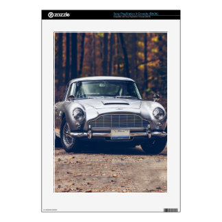 Classic car vintage retro,silver PS3 console decals