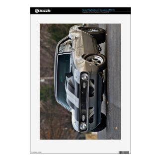 Classic car vintage retro,silver PS3 console skin