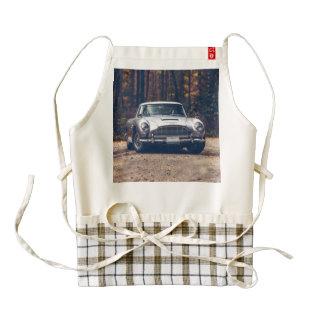 Classic car vintage retro,silver zazzle HEART apron