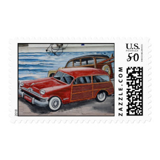 Classic Car Wall Mural Postage