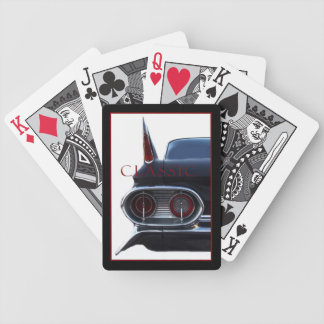 Classic Car with Fins Bicycle Playing Cards
