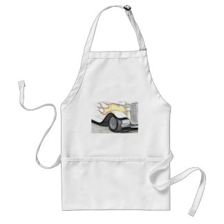 Classic Car with Flames Adult Apron