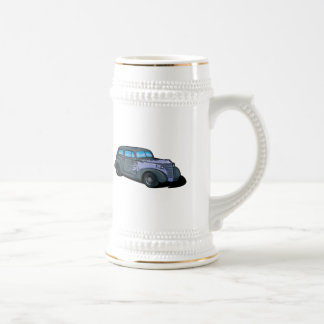 Classic Car with Flames Beer Stein