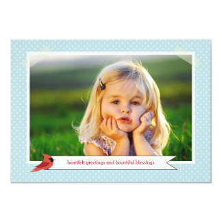 Classic Cardinal Double Sided 3 Photo Holiday Card