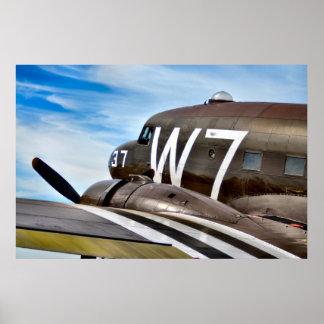 Classic Cargo Plane Poster