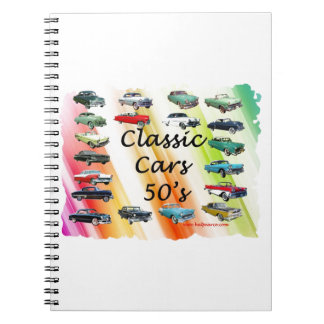 Classic_Cars_50's Spiral Notebook