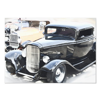 Classic Cars Birthday 5x7 Paper Invitation Card