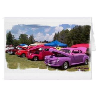 Classic Cars Birthday Card (Large Print)