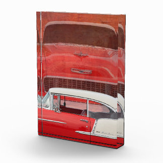 Classic Cars Chevy Bel Air Dodge Red White Vintage Award
