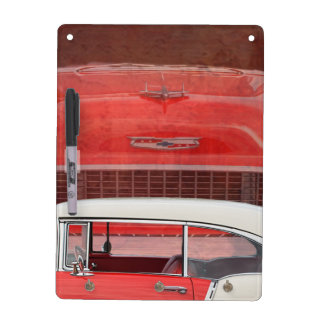 Classic Cars Chevy Bel Air Dodge Red White Vintage Dry Erase Board