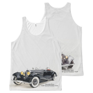 Classic cars image All-Over-Printed-Unisex-Vest All-Over-Print Tank Top