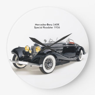 Classic cars image for Round-Large-Wall-Clock Large Clock