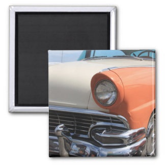 Classic Cars 2 Inch Square Magnet