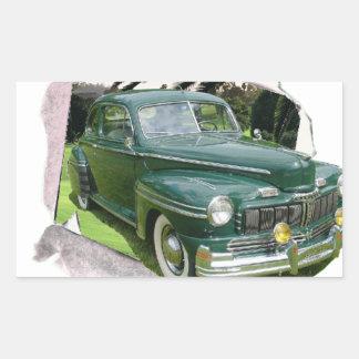 Classic Cars Mercury Rectangular Sticker