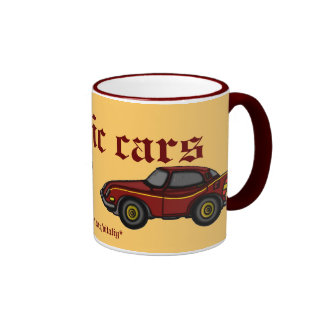 Classic cars mug design