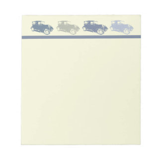 Classic Cars Notepad Paper