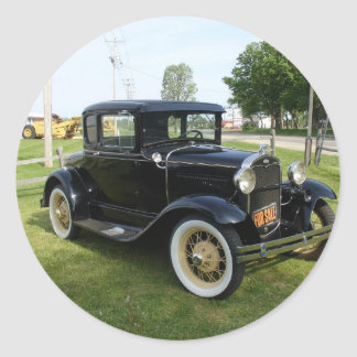 Classic Cars Round Sticker