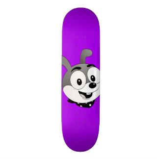 Classic Cartoon Bunny Purple Skateboard
