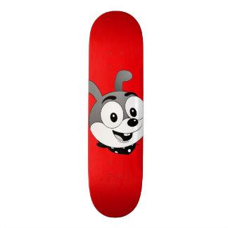 Classic Cartoon Bunny TV Red Skateboard