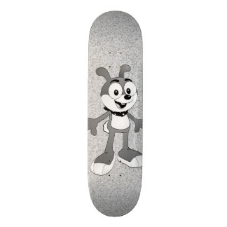 Classic Cartoon Bunny TV static Skateboard