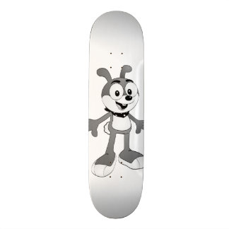 Classic Cartoon Bunny White Skateboard