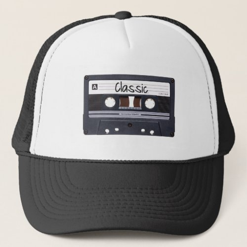 Classic Cassette Tape Trucker Hat