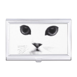 Classic Cat Face Case For Business Cards