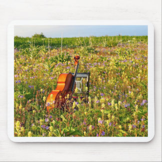 Classic Cello in a field of wildflowers Mouse Pad