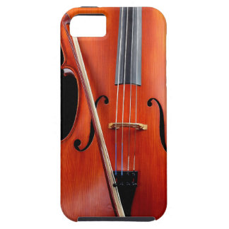 Classic cello on black iPhone 5 cover