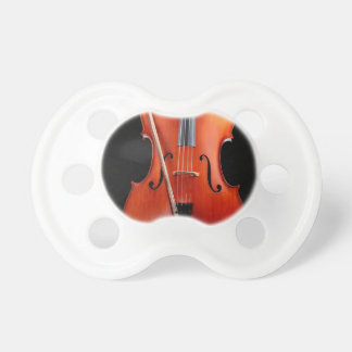 Classic cello on black pacifier