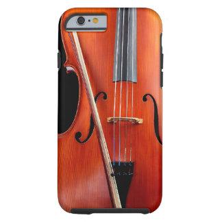Classic cello on black tough iPhone 6 case