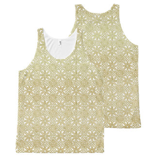 Classic Celtic Knot Wedding Gold & Green pattern All-Over-Print Tank Top