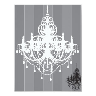 Chandelier wedding invitations announcements zazzle classic chandelier invitation mozeypictures Image collections
