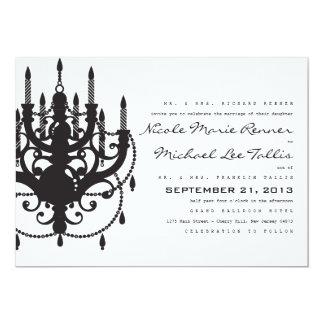 "Classic Chandelier Wedding Invitation 5"" X 7"" Invitation Card"