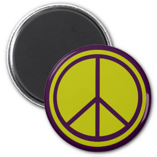 Classic Chartreuse Green Peace Sign Magnet