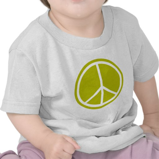 Classic Chartreuse Green Peace Sign T-shirt