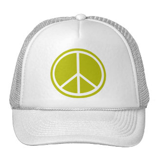 Classic Chartreuse Green Peace Sign Trucker Hat