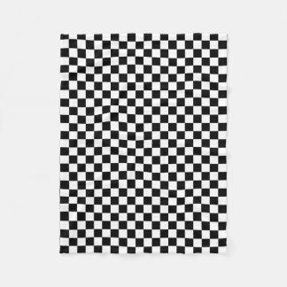 Classic Checkered I Bleed Racing Check Black White Fleece Blanket